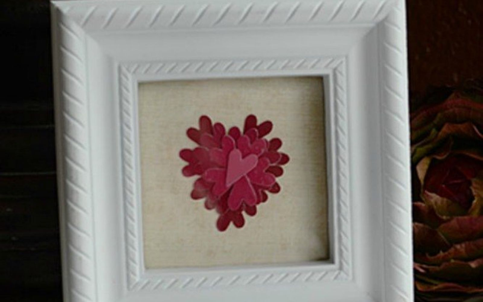 s 20 heartfelt valentine s day gifts for under 20, seasonal holiday decor, valentines day ideas, Cut out paint chips and frame them