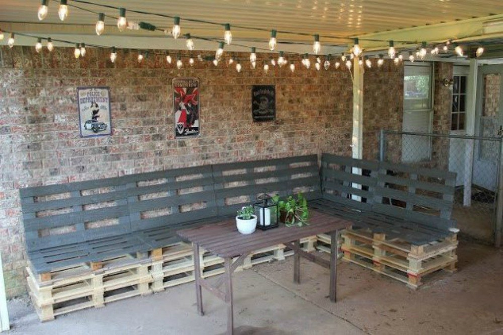 Pallet Outdoor Console Table