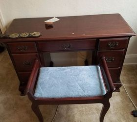 Q Antique Makeup Vanity I D Like To Raise To Use As Desk, Bathroom Ideas,