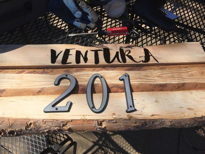 Vinyl stick on letters for our family name.