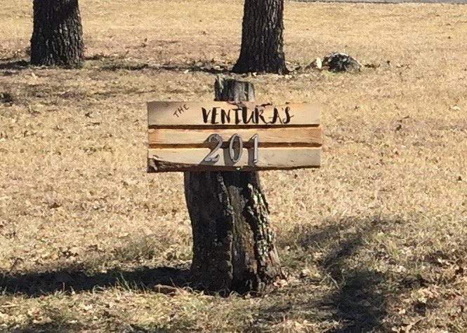 make an rustic address sign in an afternoon, crafts