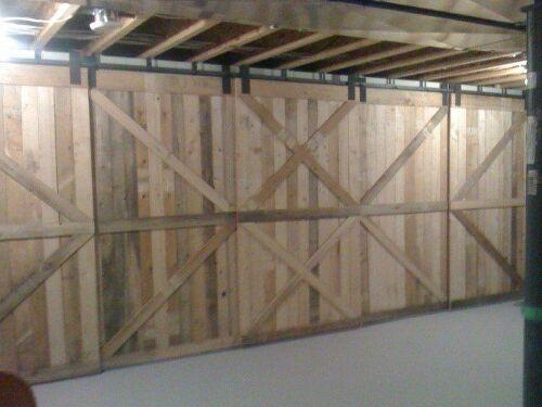 Rolling Barn Door Made From Scrap Pallet Wood Hometalk