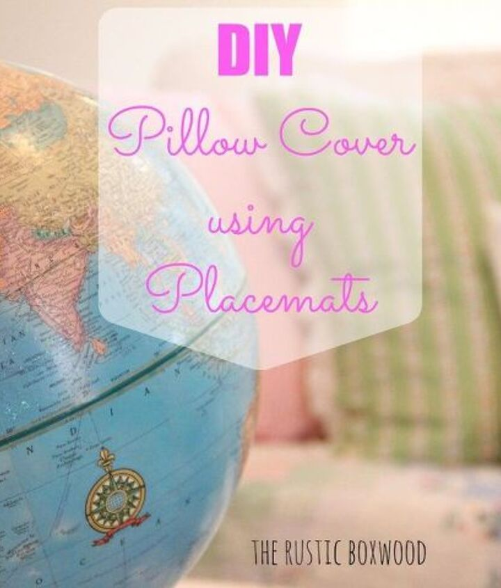diy killim pillow cover using unexpected items