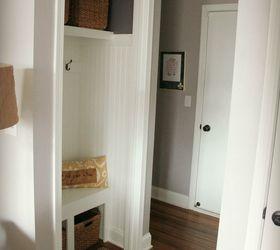 Nice Hall Closet Turned Mini Mudroom