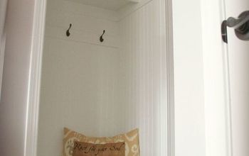 Hall Closet Turned Mini Mudroom