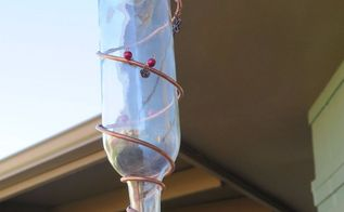 turn your wine bottle into a beautiful copper wire hummingbird feeder, pets animals