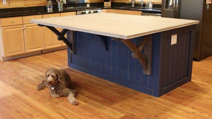 How to Make a Kitchen Island With a Concrete CounterTop, START ...