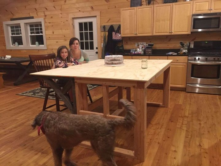 how to make a kitchen island with a concrete countertop start finish, concrete masonry, countertops, how to, kitchen design