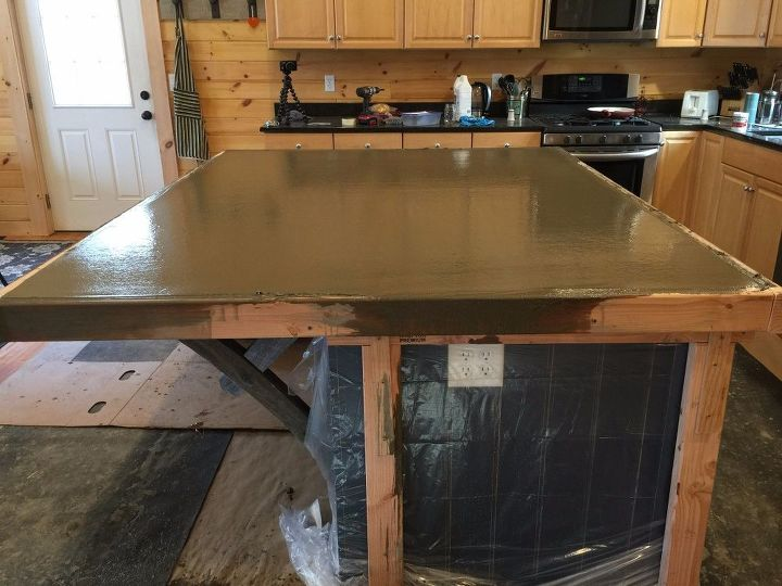 Creating A Kitchen Island: How To Make A Kitchen Island With A Concrete CounterTop