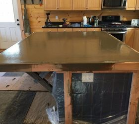 Delicieux How To Make A Kitchen Island With A Concrete Countertop Start Finish,  Concrete Masonry,