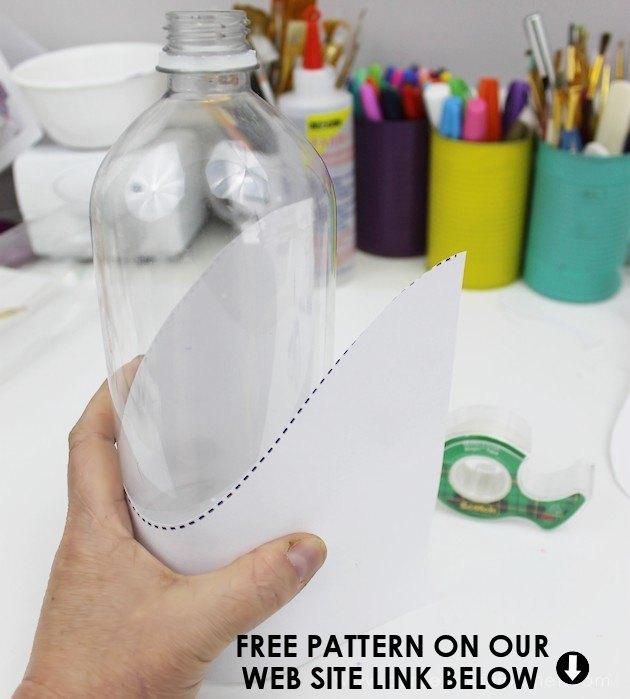 plastic soda bottle heart