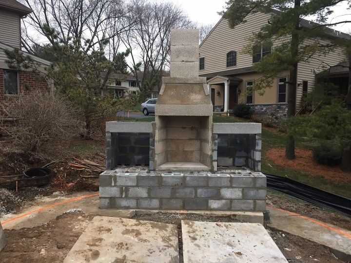 Installing Stone Veneer On Outdoor Fireplace Hometalk