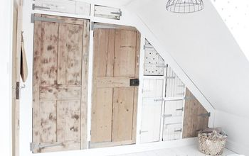 wardrobe with reclaimed doors, closet, doors