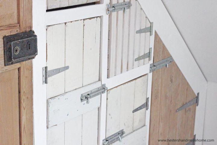 wardrobe with reclaimed doors, closet, doors