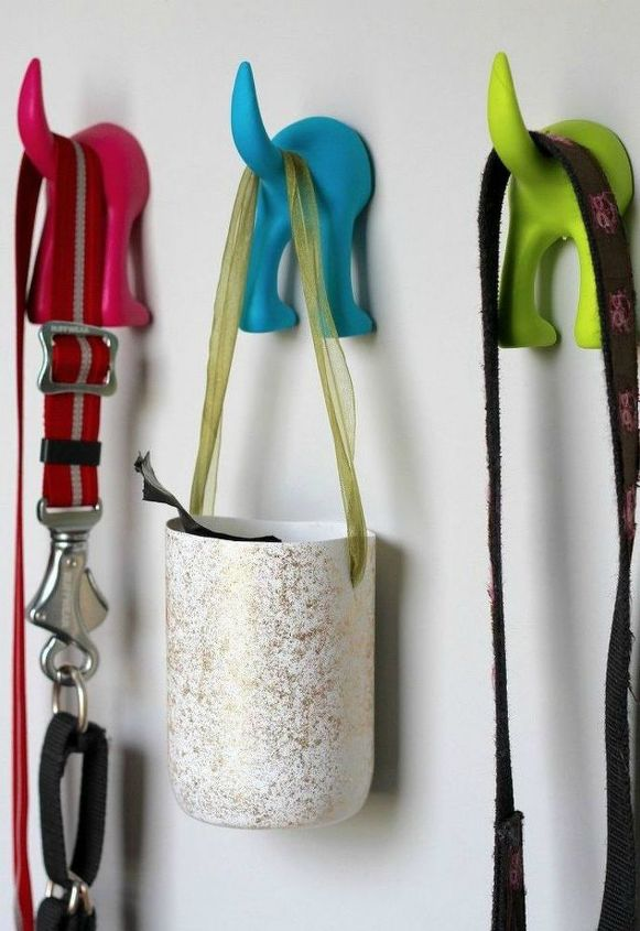 s cut plastic ontainters in half to copy these 16 cool ideas, This chic plastic bag holder