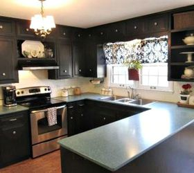 Dark Cabinets Make Your Appliances Look Sleek