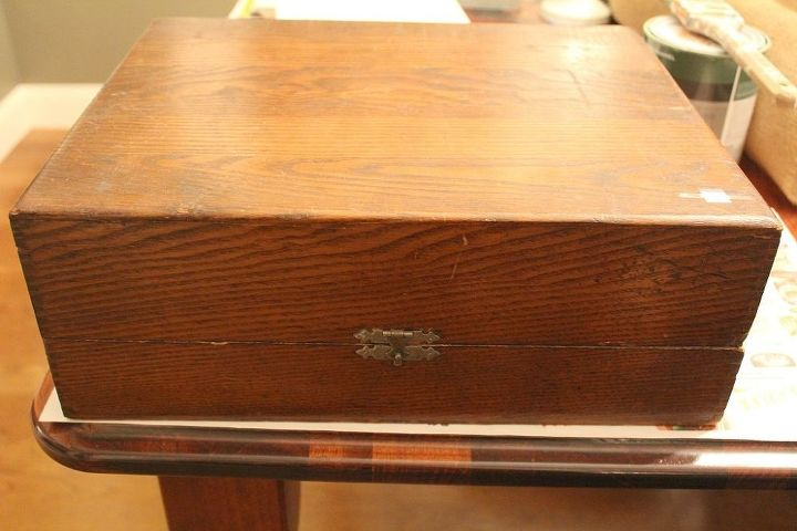 diy storage faux vintage suitcase, storage ideas