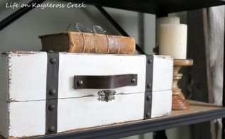 diy storage faux vintage suitcase, storage ideas