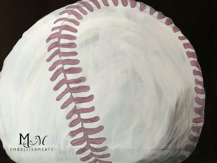 hand stained painted baseball table, painted furniture, repurposing upcycling
