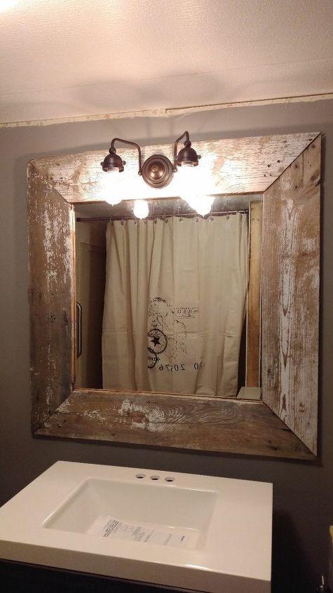 Barn Wood Mirror Rustic Home Decor: My Rustic Barn Wood Mirror