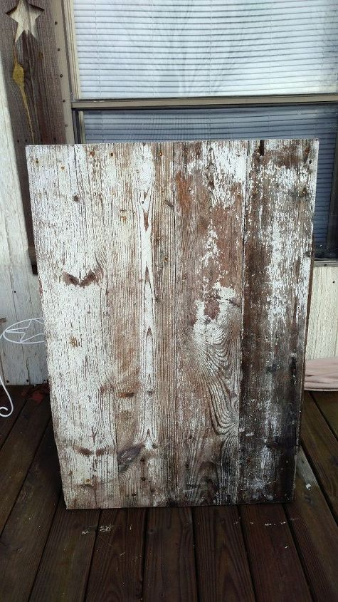 my rustic barn wood mirror, home decor, outdoor living