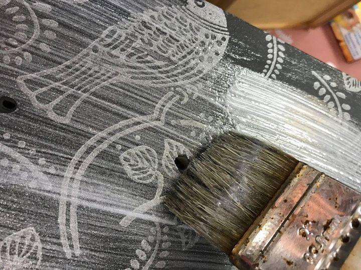 Applying Silver Glaze