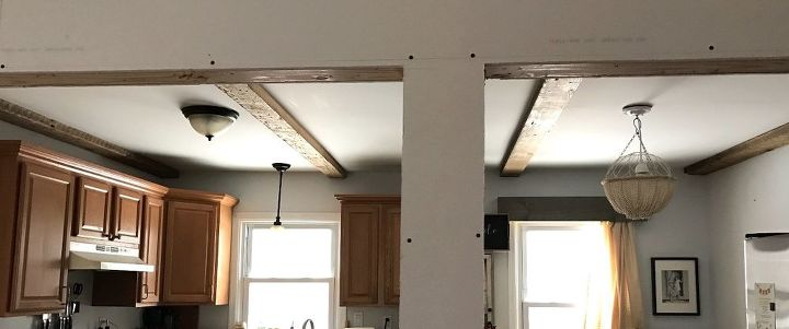faux ceiling beams, wall decor