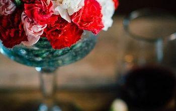 An Inexpensive Valentine's Day Floral Arrangement