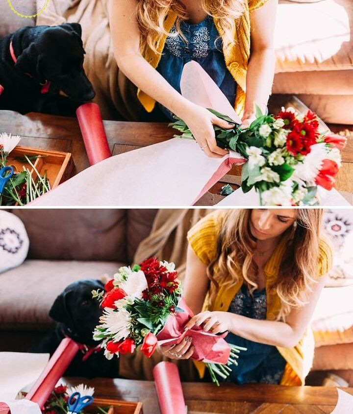 how to make your own homemade bouquet, how to