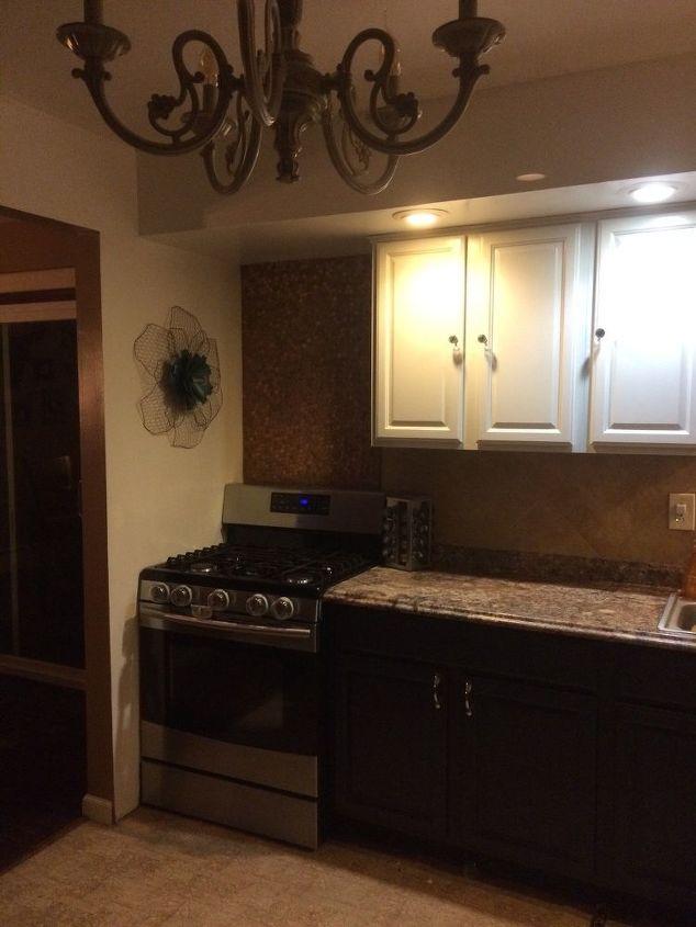 penny wall stove backsplash, kitchen backsplash, kitchen design