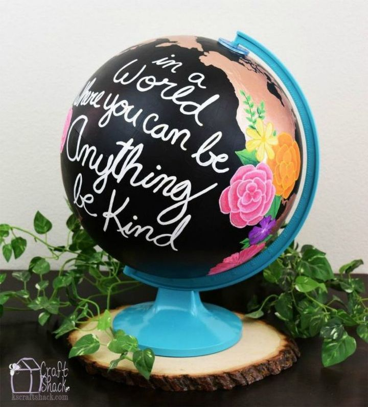 s 11 globe transformations that will change your world, Paint it and use it as a centerpiece