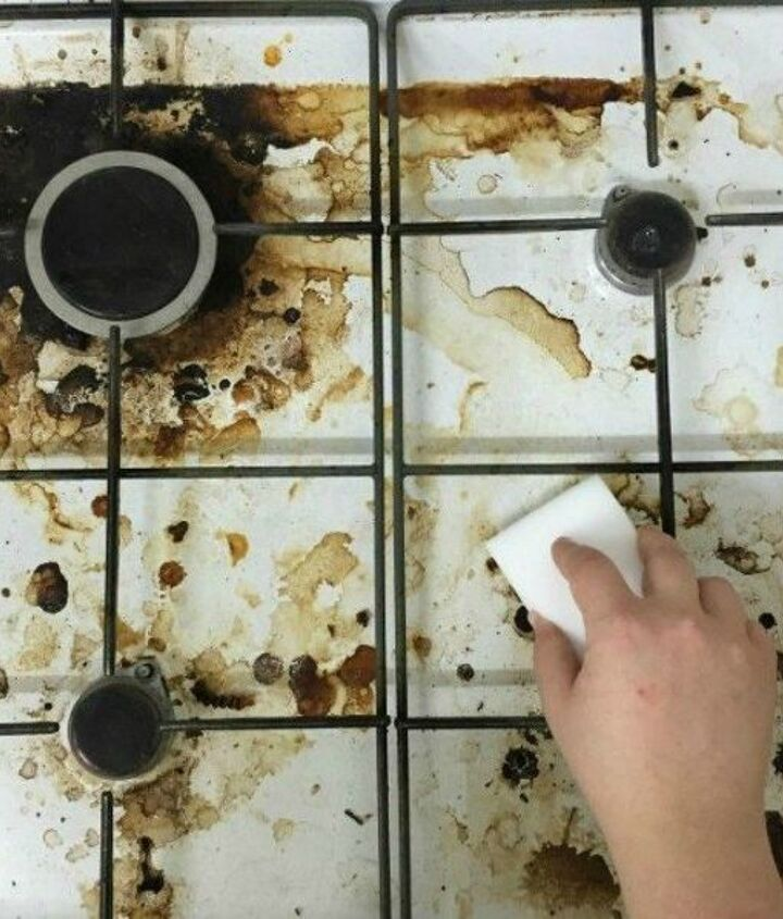 s 12 easy ways to make sure your oven is always spotless, appliances, Keep the stove top clean with an eraser pad