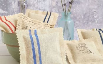 french grain sack inspired repurposed sachets