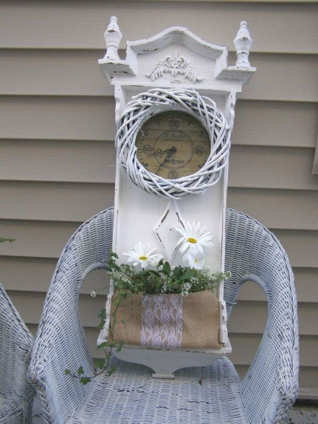 s make your neighbors giggle with these x planter ideas, gardening, Repurpose a wall clock with flowers