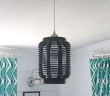 turn a lantern into a light fixture, outdoor living