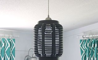 turn a lantern into a light fixture, outdoor living