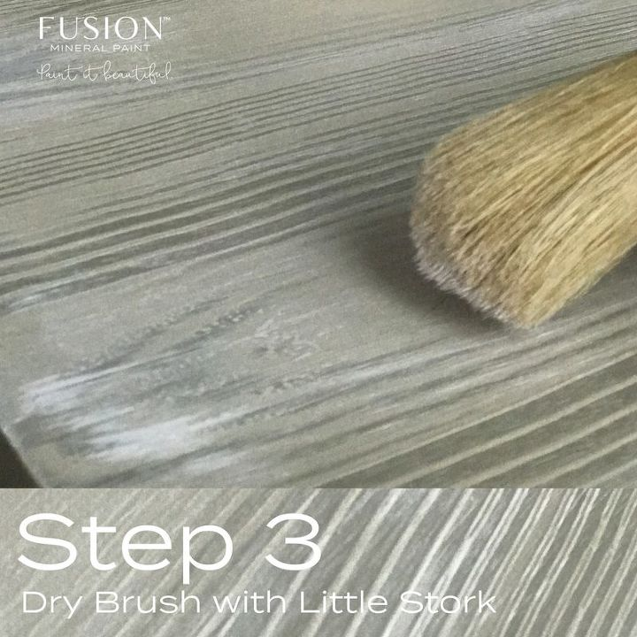 Dry Brush with a light hand!