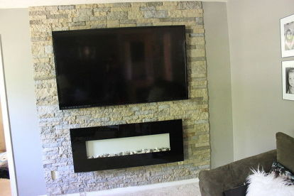 Diy Airstone Veneer Stone Accent Wall Concrete Masonry Home Decor