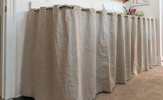 grommeted linen counter skirt, countertops