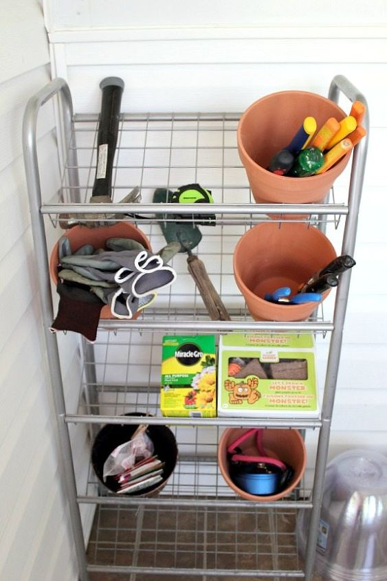 old shoe rack turned gardening and tool stand, gardening, tools