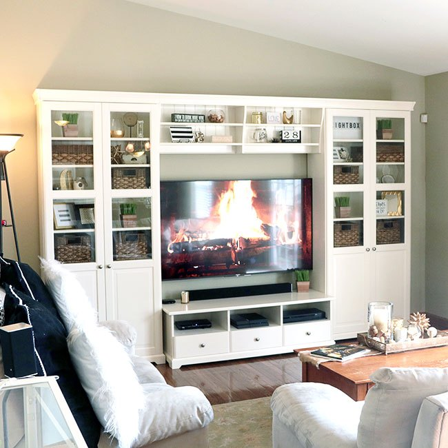 tips on how to decorate bookshelves around a tv how to shelving ideas - How To Decorate Bookshelves
