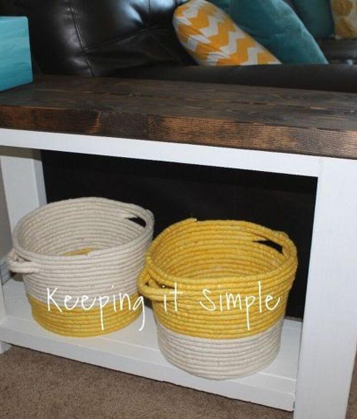 diy rope baskets, crafts