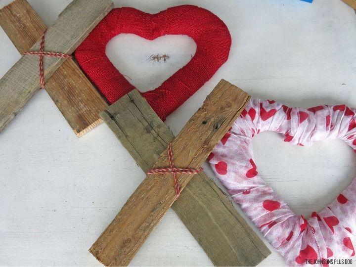 diy xoxo reclaimed wood hearts valentine s day decor, home decor, seasonal holiday decor, valentines day ideas