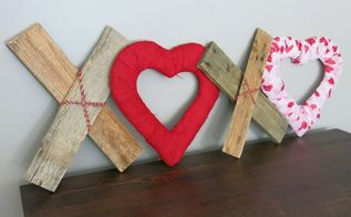 diy xoxo reclaimed wood hearts valentine s day decor, home decor, seasonal holiday decor, valentines day ideas