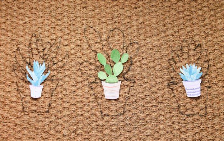 diy plant doormat, gardening