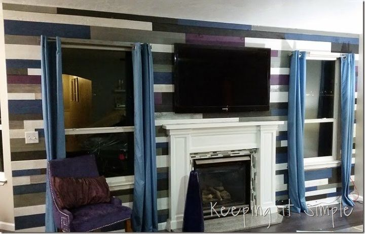 diy statement planked wall