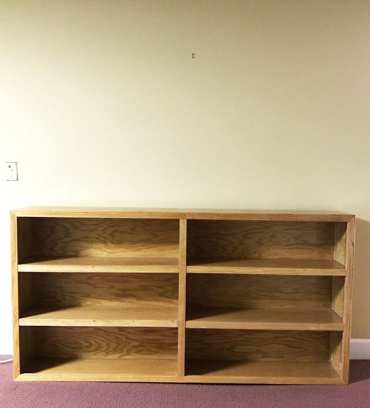 80 s oak bookcase makeover to rustic industrial, woodworking projects
