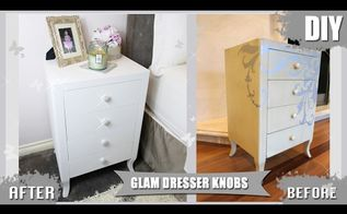 diy dresser drawer pull knobs glitter pearls, painted furniture