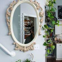 ornate mirror makeover, home decor