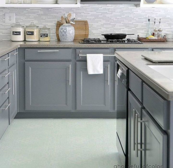 s these 12 ideas will change the way you see vinyl flooring, flooring, Stencil it for a new look